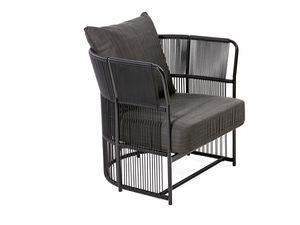 Tibidabo sillón, Butaca moderna, el tejido en fibra sintética, para el aire libre