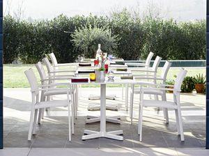 Victor silla con los brazos, Silla con brazos, en aluminio, para jardines y terrazas