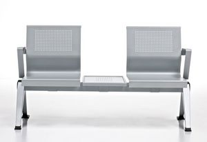 Aira, Banco en chapa de aluminio pintado para salas de espera