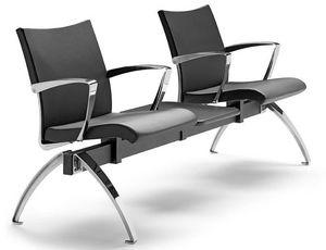 AVIA 4400B2T + OPT, Banco con dos asientos y 1 mesa ideal para salas de espera