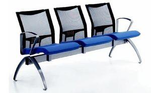 AVIANET 3600 B3 + OPT1, Beam sillas con respaldo de malla y reposabrazos