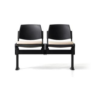 New Bonn bench, Banco en la viga, acolchado, con la aprobaci�n, para salas de espera