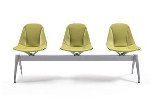 Couture banco 50.0004 50.0005, Banco para salas de espera, con asientos de cuero.