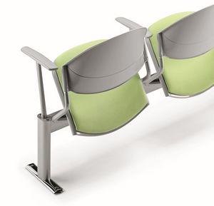 DELFI A086, Silla en la viga, asiento acolchado, para salas de espera