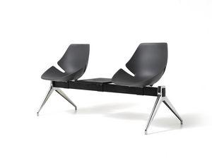 Eon bench, Asiento en la viga, de aluminio y plástico, para sala de espera