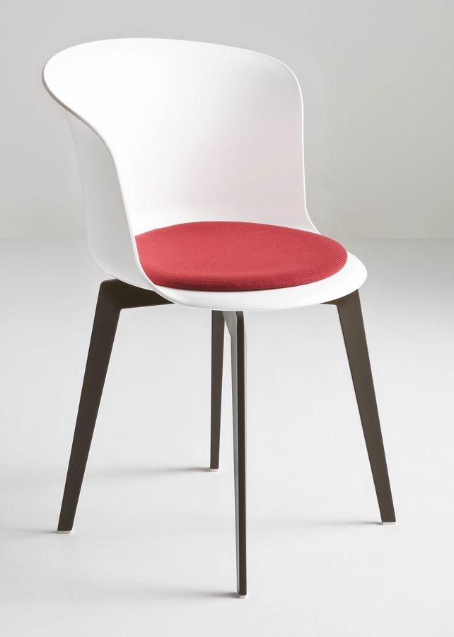 Epica FIX, Silla fija en polímero, de diseño ergonómico