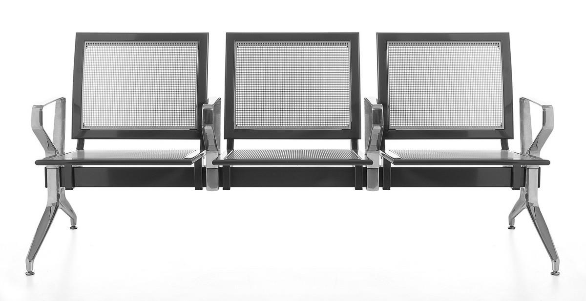 Korner, Bench en viga, sentado en la placa perforada, para salas de espera