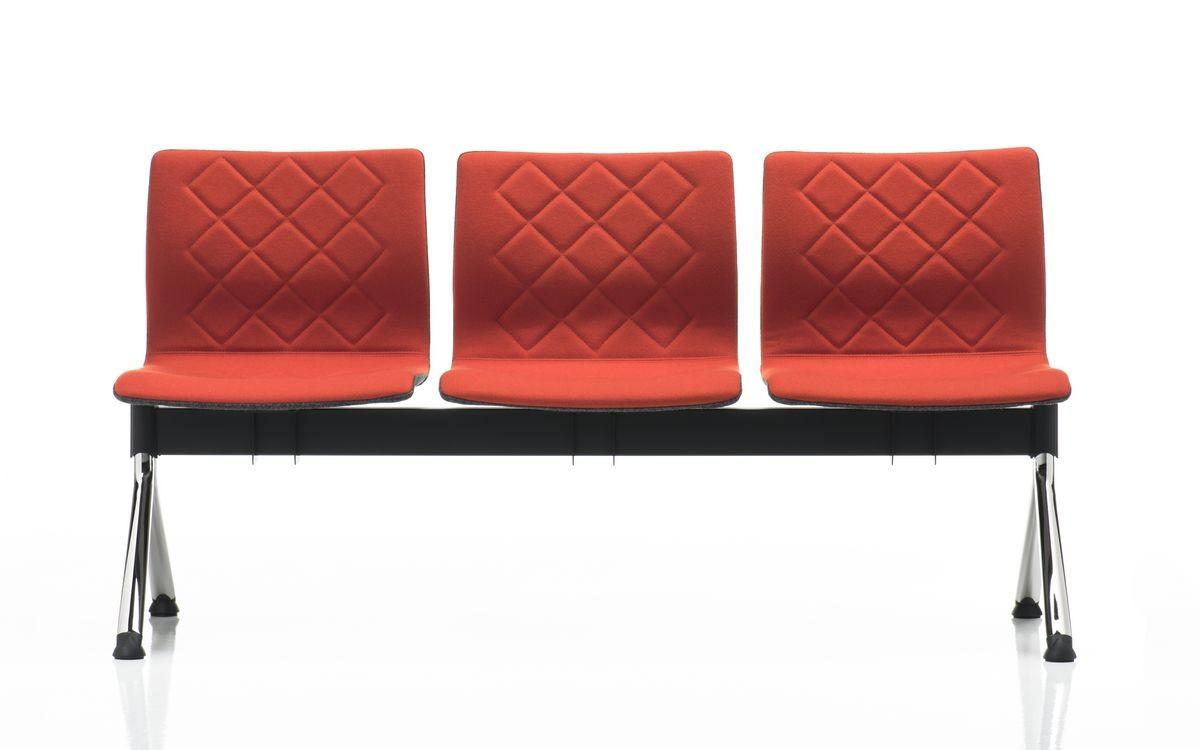 Miss bench, Banco modular, patas de acero cromado, para salas de espera