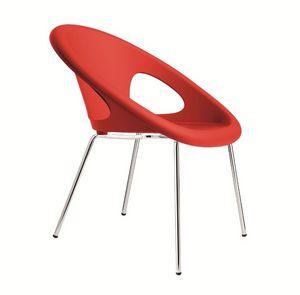 PL 2682.INT, Metálica apilable y silla de plástico adecuado para bares