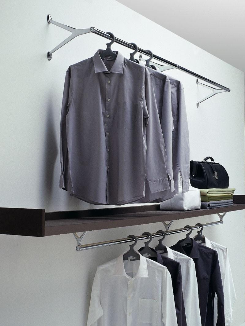 Ambrogio / Ambrogino, Ganchos para colgar ropa en acero cromado y aluminio pulido