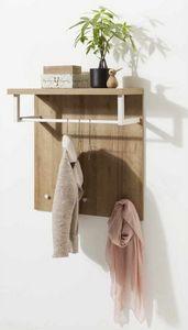 Appendiabiti Con Piano Portatutto In Legno Design Moderno, Percha con tapa de madera