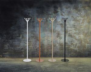 Battista color, Perchero de pie, en metal pintado
