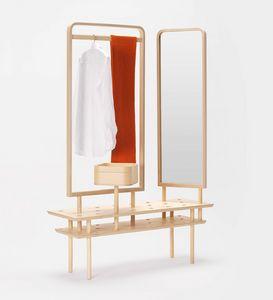 Etta wardrobe, Percha de tocador, con espejo