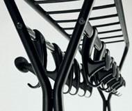 Hook stander, Suspensión en las ruedas, de acero pintado