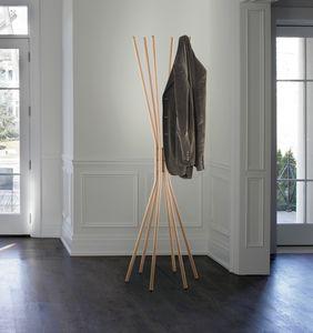 Mikado, Percha de acero, con acabado en madera
