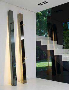Tizio 318, Lámpara de espejo de alambre pulido, con perchero
