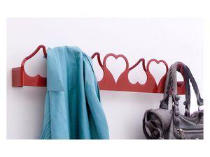 Valentina gancho para ropa, Pared del metal percha, en forma de corazón, estilo moderno