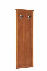 Zeno elemento de armario, Panel de madera con percha, para habitaciones de hotel