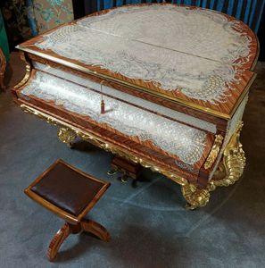 GrandPiano, Piano de lujo con dibujos en porcelana negra