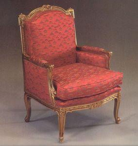 5025 SILLON, Sillón tapizado para sala de estar, estilo clásico de lujo