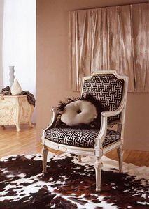 9806 sillón, Sillón clásico con tallas de pan de oro.