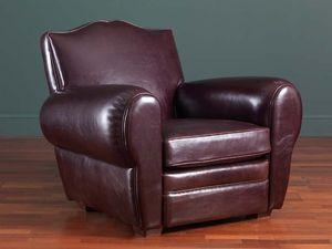 Alberto sillón, Sillón de cuero clásico, 30s y 50s estilo