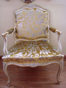 Art. 112, Silla cl�sica de lujo para el hogar, estilo Luis XV