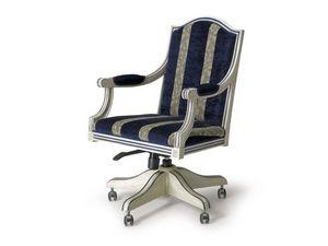 Art.224 armchair, Sillón de estilo clásico con ruedas y altura regulable