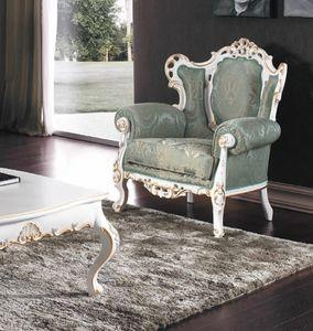 Art. 3148, Opulento sillón con estructura tallada
