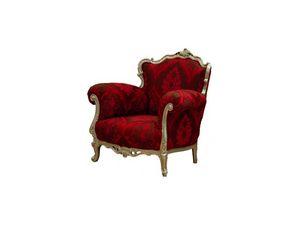 Art.535 armchair, Butaca con apoyabrazos, estilo clásico de lujo