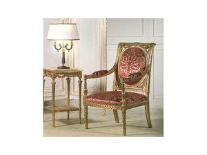 Art. 805 Versailles, Sillones con ricas tallas hechas a mano, para salas de estar de estilo neoclásico