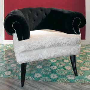 Audrey, Sillón de lujo clásico con cubierta acolchada