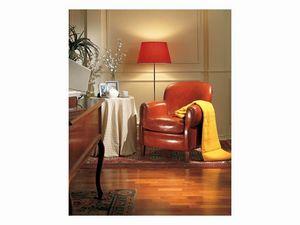 Bulbas Armchair, Sillón tapizado en cuero, fo hall del hotel y el hogar