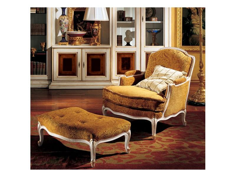 Complements lounge set 848 849, Sillón clásico de lujo y reposapiés