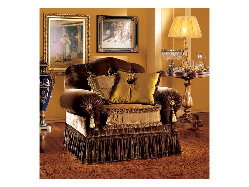 Elena armchair, Lujo clásico sillón con el acolchado capitoné