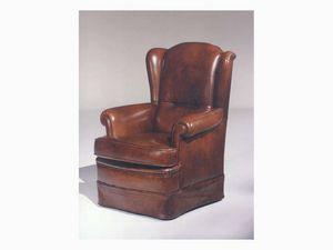Elisabeth, Sillón de cuero para muebles de lujo