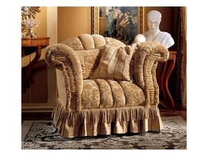 Emanuela armchair, Sillón tapizado con telas preciosas