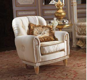 Esimia sillón, Sillón clásico con tela de seda