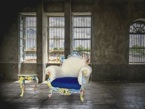 Finlandia Swirl lacado, Glamour srmchair ideal para hoteles, tiendas y discotecas