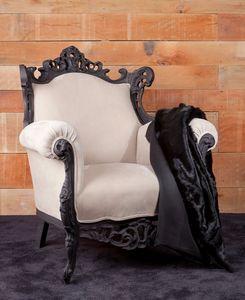 Finlandia cuero, Nuevo sillón barroco, tapizados con cuero nobuck