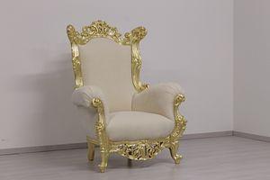Finlandia trono, Trono al estilo de Nueva barroco, de madera tallada a mano