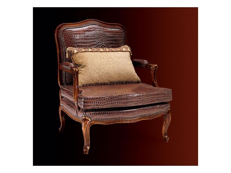 Gardenia armchair 806, Sillón con tapicería de cuero