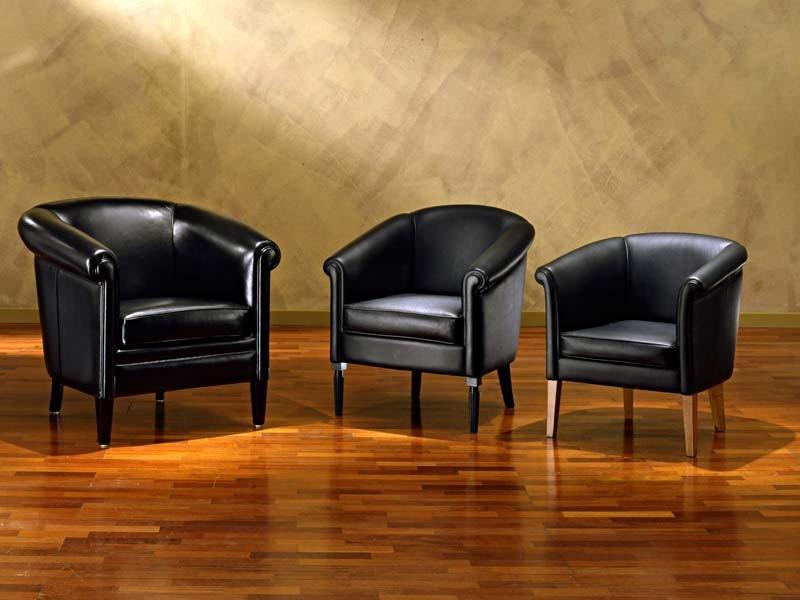 Helmond, Hand-trabajó sillón, en cuero, para la sala
