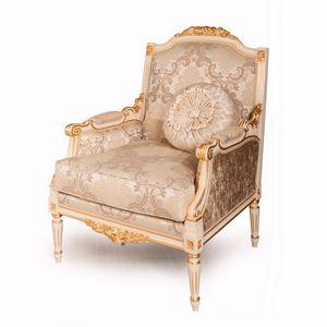 Louvre sillón, Sillón clásico con decoraciones talladas.