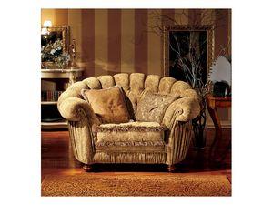 Marika armchair, Sillón de estilo clásico con un respaldo semicircular