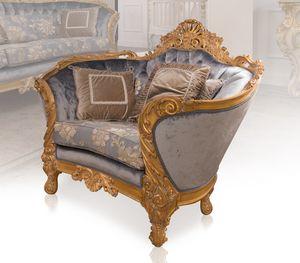 Nobile sillón, Sillón tallado a mano de lujo
