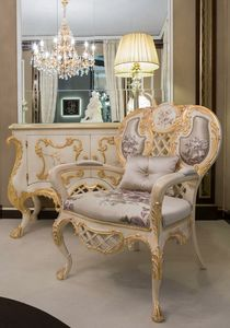 Pantheon sillón, Sillón clásico en tela de seda