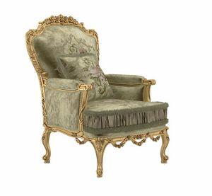 Principessa sillón, Sillón de estilo clásico, acabado dorado