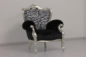 Re Sole animalier, Sillones en forma de leopardo y cebra a medida.