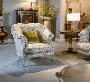 Sillón 4962, Sillón tapizado con tejido clásico.